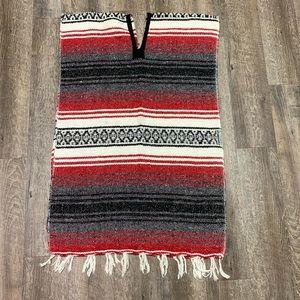 Mexican Poncho Sarape OSFM Unisex Blanket